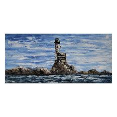 """LightHouse"" Acrylic Painting, 140x65 cm"