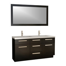 "Design Element J60-DS Moscony 60"" Double Sink Vanity Set, Espresso"