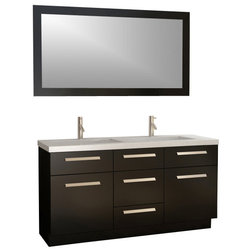 Simple Modern Bathroom Vanities And Sink Consoles by XOMART