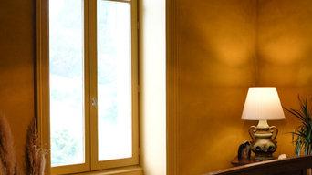 Marmorino Velvet - India Yellow Bedroom refurbishment