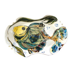 Small Oval Platter with Fish Design