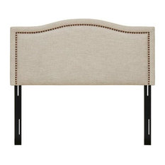 Madison Park Queen Upholstery Headboard With Natural Finish MP116-0353