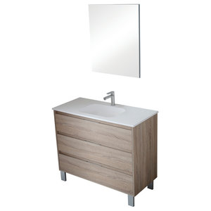 Box 3-Drawer Bathroom Vanity Unit, Cambrian Finish, 100 cm