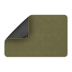 Attachable Rug for Stair Landings, Olive Green, 3'x3'