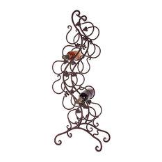 Wine Bottle Holder Rack Iron Art Spiral Antique Bronze Home Decor