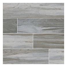 Carolina Timber White Matte Ceramic Tile, Sample