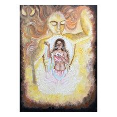 """""""Sun, Moon, Universe"""" Oil Painting"""