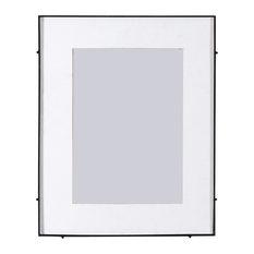 "Barin Square Rod Photo Frame, Black, 10""x14"""