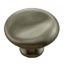 "MNG Hardware 1 1/2"" Thumbprint Potato Knobs - Satin Antique Nickel"