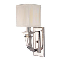Hudson Valley 541-PN 1-Light Wall Sconce, Polished Nickel