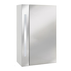 Watsons - Odyssey Mirror Bathroom Cabinet With Shaver Socket, Lights, White-Silver - Bathroom Cabinets