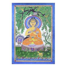 Handmade Enlightened Madhubani painting - India