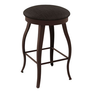 Coventry Counter Stool Dark Leather Bar Stools And