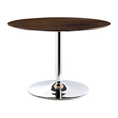 Rostrum Round Wood Top Dining Table, Walnut