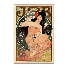 Job by Alphonse Mucha Advertising Poster Reprint on Canvas
