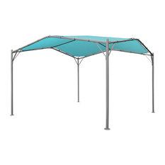 GDF Studio Poppy Outdoor 11.5'x11.5' Modern Gazebo Canopy, Teal