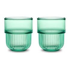 Authentics - Kali Becher 2er Set Transparent Grün Authentics - Gläser