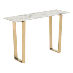 Atlas Console Table Stone And Gold