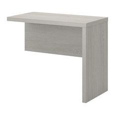 Office by kathy ireland Echo 36W Desk Return in Gray Sand