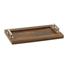 Simply Classic Wood Steel Rectangle Tray