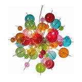 Colourful glass pendant light Aurinia