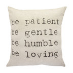"""Be Patient"" Throw Pillow"