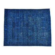 "Consigned 6'9""x8'7"" Semi Antique Persian Bakhtiari Overdyed Vintage Handmade Rug"