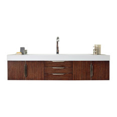 "Mercer Island 72"" Coffee Oak Single Vanity"