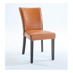 Bonded Leather Parsons Chairs, Set of 2, MICHELLE-PRS-SC-ORG