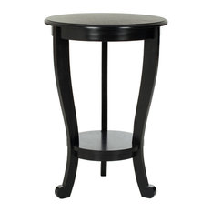 Safavieh   Safavieh Mary Pedastal Side Table, Distressed Black   Side Tables  And End Tables