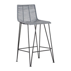 "Odette Light 24.75"" Bar Stool, Gray Solid Colour, Gray Solid"