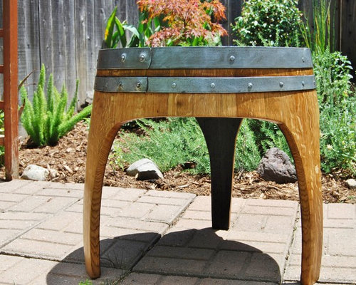 arched napa valley wine barrel tables arched napa valley wine barrel table