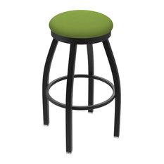 802 Misha 30-inch Swivel Bar Stool With Canter Kiwi Green Seat
