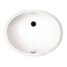 "13""x16"" Oval Undermount Bathroom Sink"