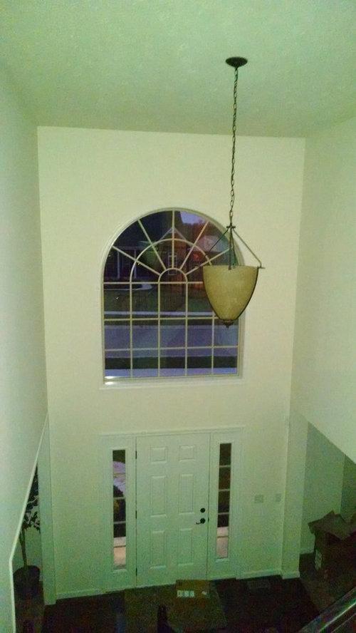 2 Story Foyer Window Treatment