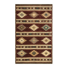 Rizzy Home Southwest Hand-Tufted Area Rug 9'x12' Burgundy