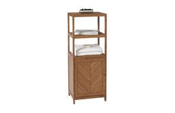 Creative bath 3 Shelf Tower with Cabinet