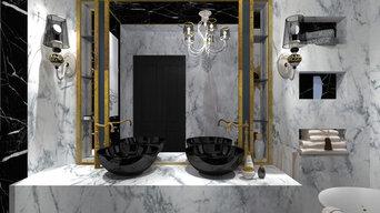 Bathroom classic style in Saint - Petersburg