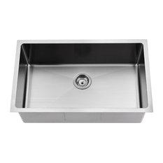 BOANN UM3018-BN Undermount Kitchen Single Bowl Sink - 30 x 18 -  BN