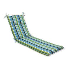 Topanga Stripe Lagoon Chaise Lounge Cushion