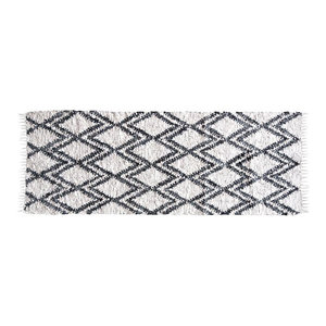 Berber Leather and Cotton Rug, 200x300 cm