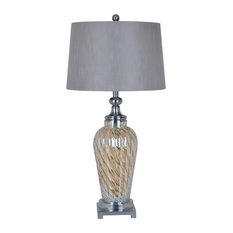 Crestview Collection   Avignon Torchiere Lamp, Italian Bronze Finish   Table  Lamps