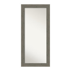"""Fencepost Gray Floor/Leaner Mirror, Outer Size 31""""x67"""""""