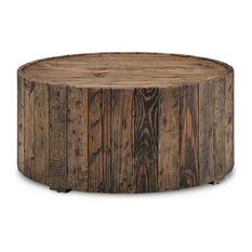 Beau Magnussen Home Furnishings   Dakota Round Cocktail Table, Rustic Pine   Coffee  Tables