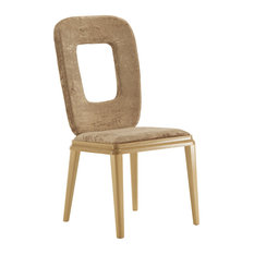 Wooden Chair With Hole in Backrest