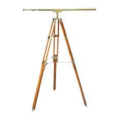 44-inch Brass Harbormaster Telescope on Teak Tripod