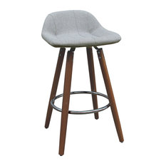 "26"" Wood Base Counter Stool, Set of 2"