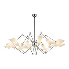 Buckingham 12-Light Chandelier, Polished Nickel