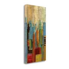 """""""Towerscape I"""" By Jason Cardenas, Giclee Print on Gallery Wrap Canvas"""