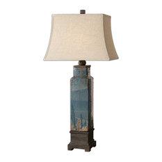 Soprana Blue Table Lamp By Designer Carolyn Kinder